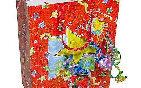 Dárkové tašky Dárková taška hvězda a konfety 180x227 mm
