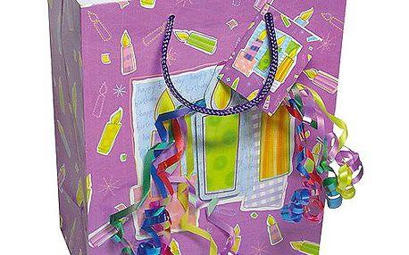 Dárkové tašky Dárková taška svíčky a konfety 264x327 mm