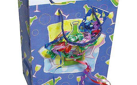 Dárkové tašky Dárková taška šampaňské a konfety 180x227 mm