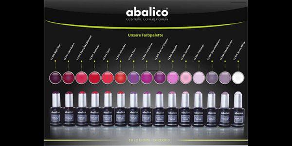 SOAK OFF gel lak s luxusní kosmetikou ABALICO. Výběr z 15-ti barev, trvanlivost až 3 týdny