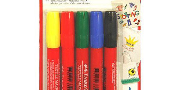 Faber-Castell Popisovače na textil 5ks Popisovače na textil 5 barev