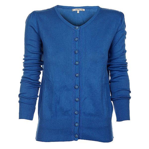 Dámský světle modrý kardigan Uttam Boutique