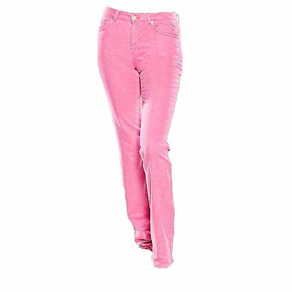 Dámské straight-leg růžové džíny Ruby London