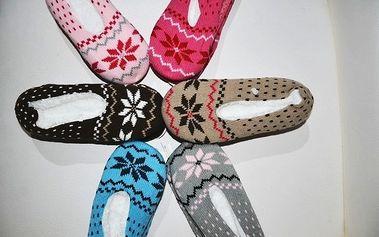 Dámske a pánske papučky s nórskym vzorom len za 6,99€ s poštovným v cene