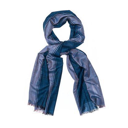 Dámský dvojbarevný šál Bella Rosa v odstínech modré
