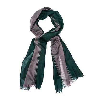 Dámský dvojbarevný šál Bella Rosa v odstínech zelené a šedé