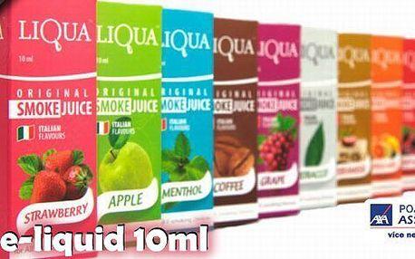 Sada 5ks e-liquid 10ml k elektronickým cigaretám od originálního výrobce LIQUA! Na výběr z několika příchutí a množství nikotinu - nakombinujte si tu svou příchuť i sílu 5x!