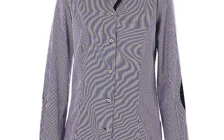 Dámská černo-bílá proužkovaná košile 7camicie