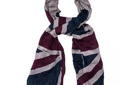 Dámský barevný šátek Bella Rosa s motivem britské vlajky