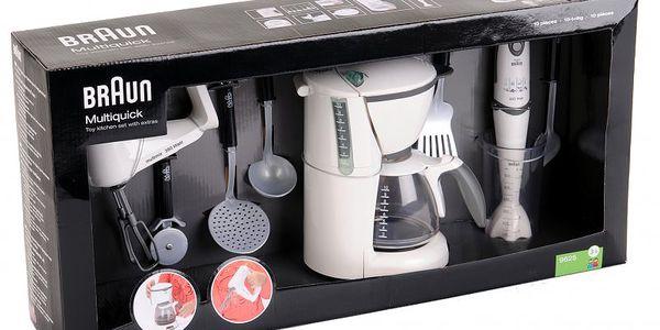 Klein Kuchyňská sada Braun obsahuje ruční mixér, ponorný šlehač, překapávač, naběračku, obracečku a jiné nádobí do kuchyně značky Braun