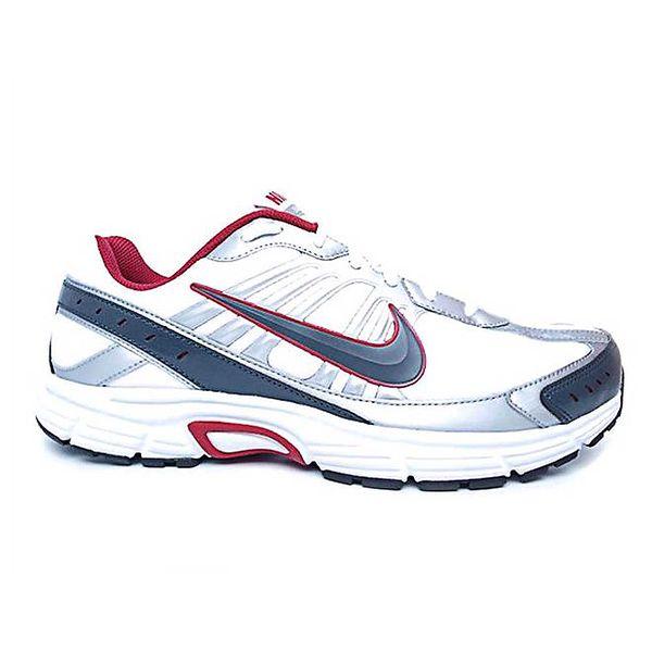 Pánské stříbrno-bílé sportovní tenisky s červenými detaily Nike