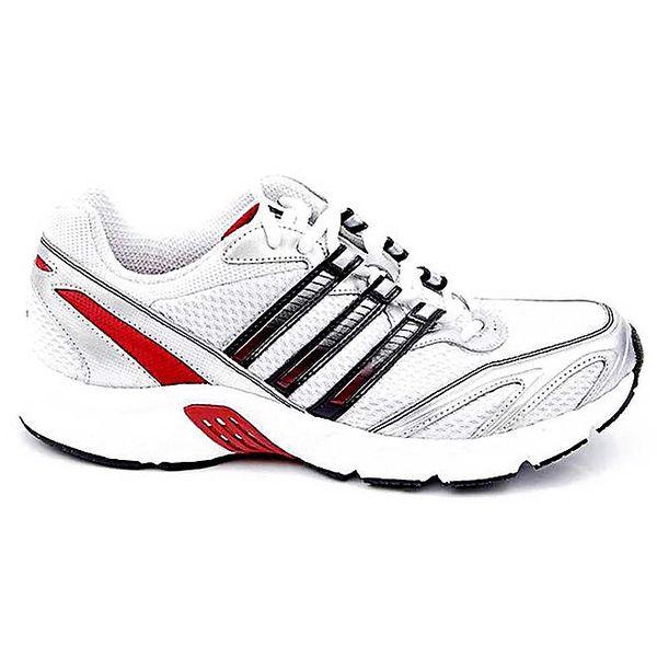Pánské bílé sportovní tenisky s červeným pruhem Adidas