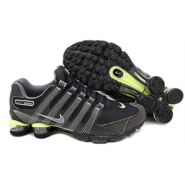 Pánské černo-zelené běžecké boty Nike Shox