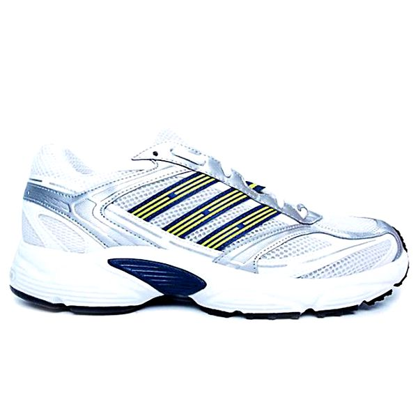 Pánské bílé běžecké boty se žlutými detaily Adidas