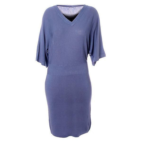 Dámské světle modré úpletové šaty Bleifrei