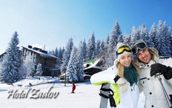 Zima na šumavském Zadově! TŘI dny pro DVA s POLOPENZÍ, SAUNOU nebo VÍŘIVKOU s možností vánočního pobytu, jen za 1799 Kč v hotelu Zadov***, se slevou 56%!
