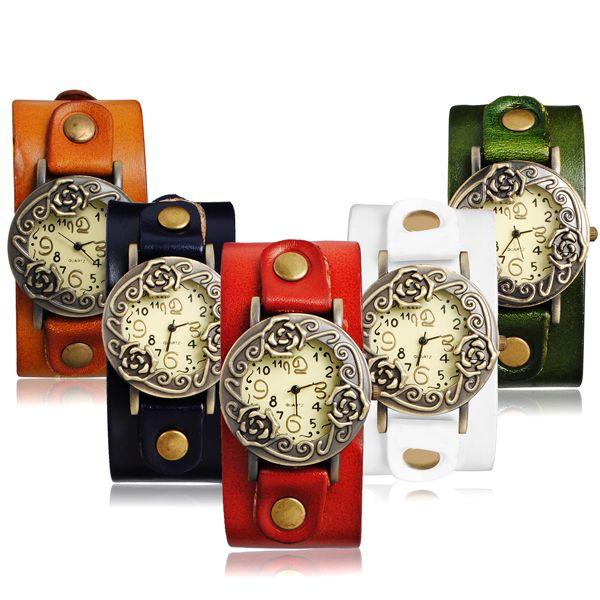 Dámské retro hodinky s růžičkami - v 5 barvách a poštovné ZDARMA! - 32005708