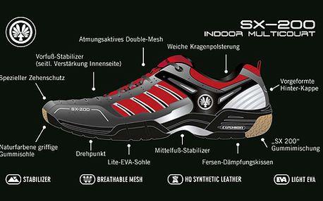 Komfortní sálovky OLIVER SX 200, vel. 37-47, odběr v Praze, extrémně lehké a pevné, ideální na squash, badminton a florbal