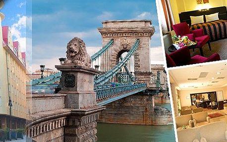 Užijte si 4 denní pobyt pro 2 osoby ve 4* hotelu Leonardo Hotel Budapest v samém centru Budapešti! Luxusní hotel vám poskytne ubytování v pokojích typu Comfort, bohaté americké snídaně formou bufetu a vstup do posilovny!