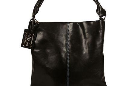 Dámská černá kožená kabelka Forbes&Lewis s bavlněnou podšívkou
