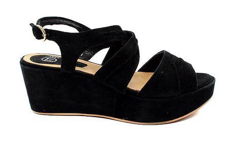 Dámské černé sandálky s platformou Bagatt