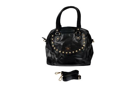 Dámská černá retro kabelka se zlatými cvočky Marina Galanti