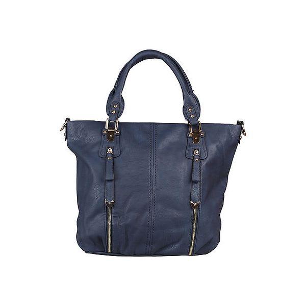 Dámská modrá kabelka do ruky i přes rameno Dudlin