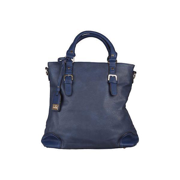 Dámská modrá kabelka s kontrastními rohy Dudlin