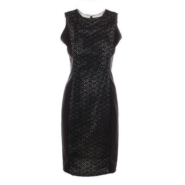 Dámské černé krajkové šaty Nougat London
