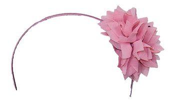 Čelenka s růžovou květinou