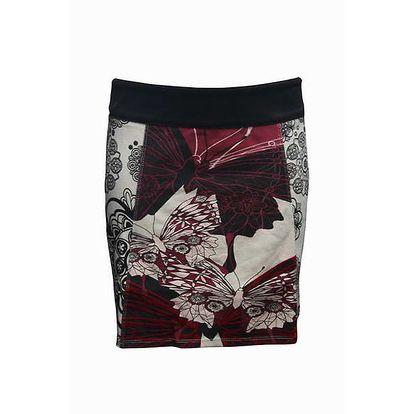 Dámská šedo-růžová sukně Smash s motýly