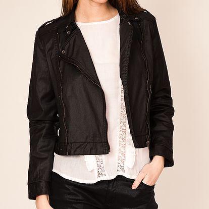 Černá bunda se dvěma zipy