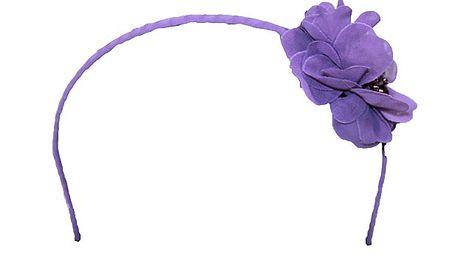 Fialová čelenka s květinou