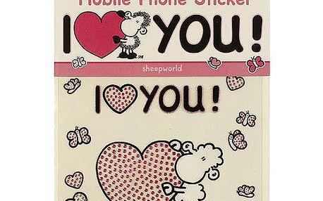 Samolepky na mobil Sheepworld Samolepky na mobil LOVE, Sheepworld