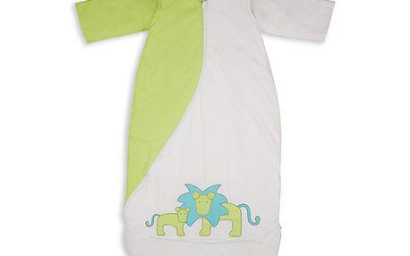 Anti-alergenní spací vak lev - zelený 2,5 TOG 110cm