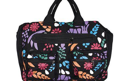 Dámská černá taška Smash s barevným potiskem