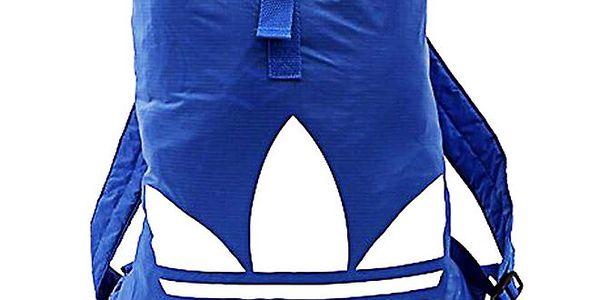 Pánský modrý batoh s bílým logem Adidas