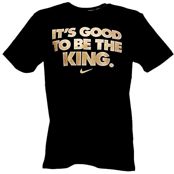 Pánské černé tričko se zlatým potiskem Nike