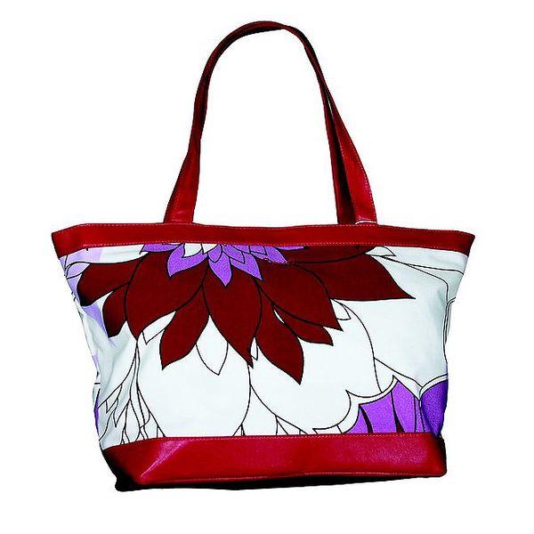 Dámská červeno-bílá kabelka Smash s potiskem