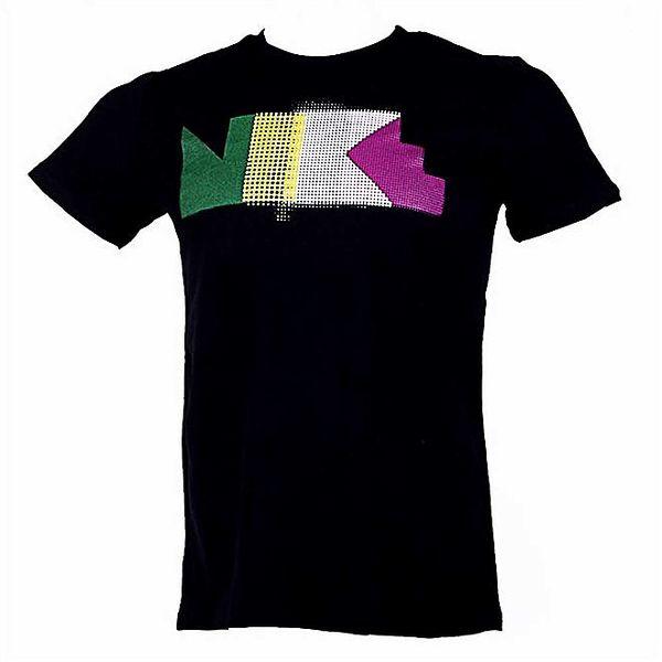 Pánské černé triko s barevným potiskem Nike
