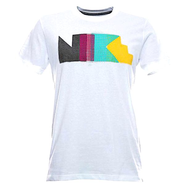 Pánské bílé triko s barevným potiskem Nike