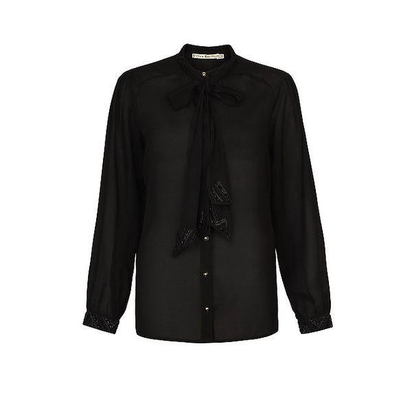 Dámská černá košile s vázačkou Uttam Boutique
