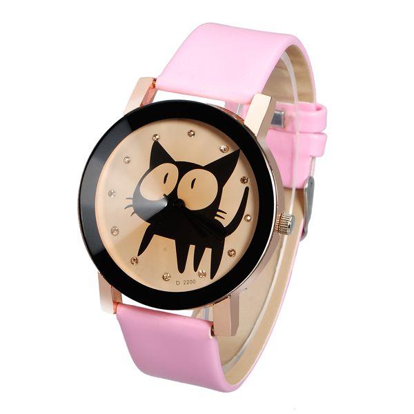 Hodinky s kočkou - 4 barvy a poštovné ZDARMA! - 31705765
