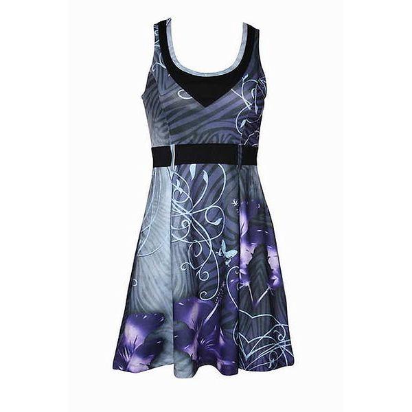 Dámské modrofialové šaty Smash s potiskem