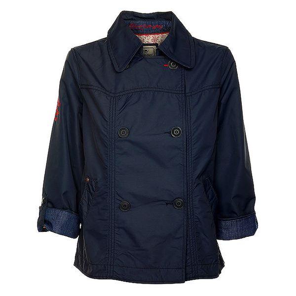 Dámský dvouřadý tmavě modrý kabátek Timeout