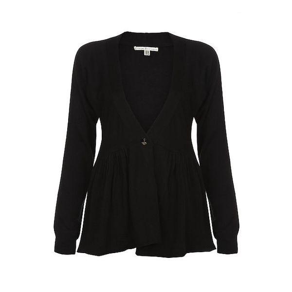 Dámský černý svetřík na knoflíček Uttam Boutique