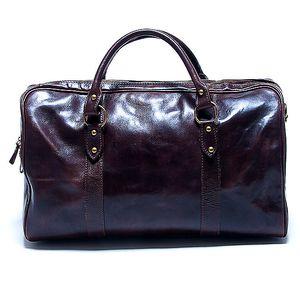 Dámská velká tmavě hnědá cestovní taška Renata Corsi