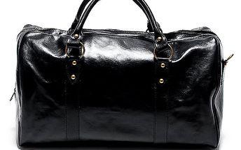 Dámská velká černá cestovní taška Renata Corsi