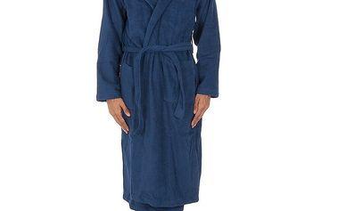 Pánský modrý župan Ralph Lauren s malým logem na hrudi