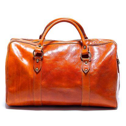 Dámská velká koňakově hnědá cestovní taška Renata Corsi